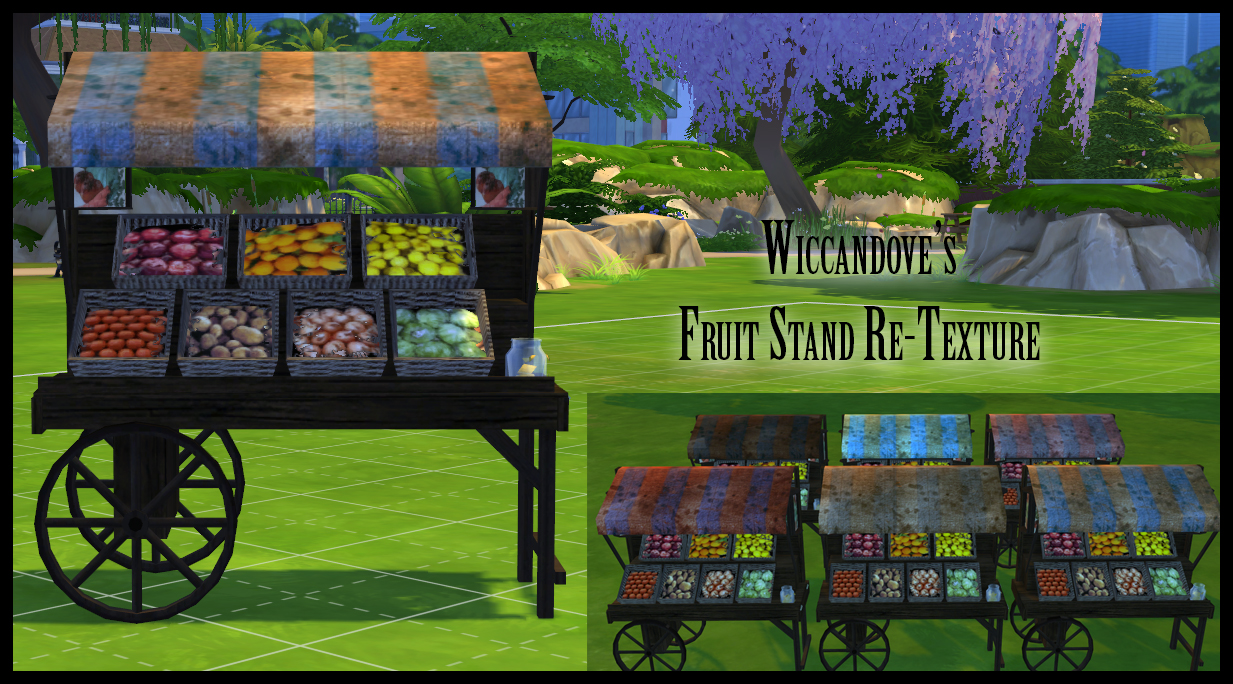 Wiccandove Fruit Stand Re Texture Simsworkshop