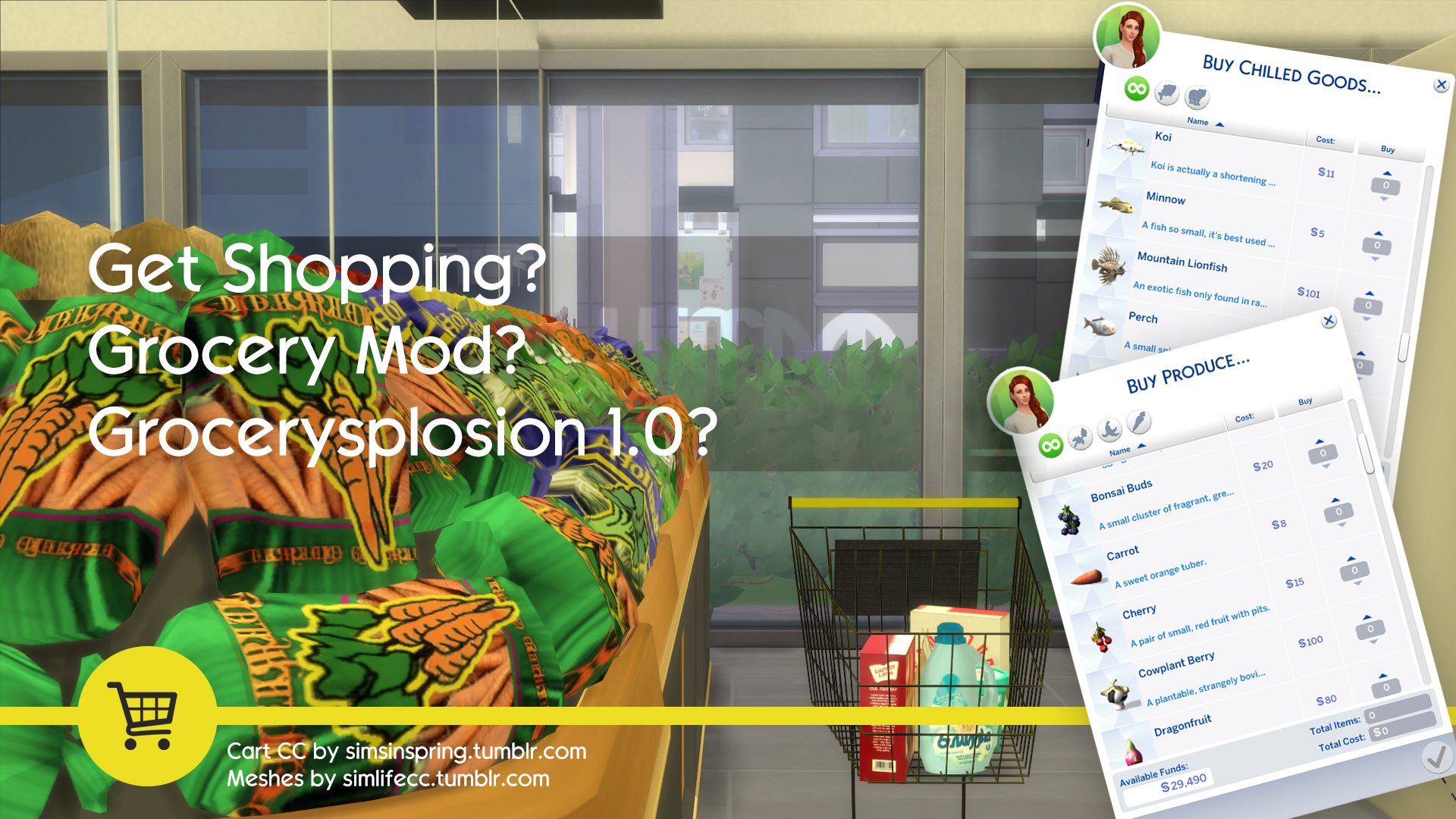 Unmaintained The Sims 4 Grocery Store Mod Simsworkshop
