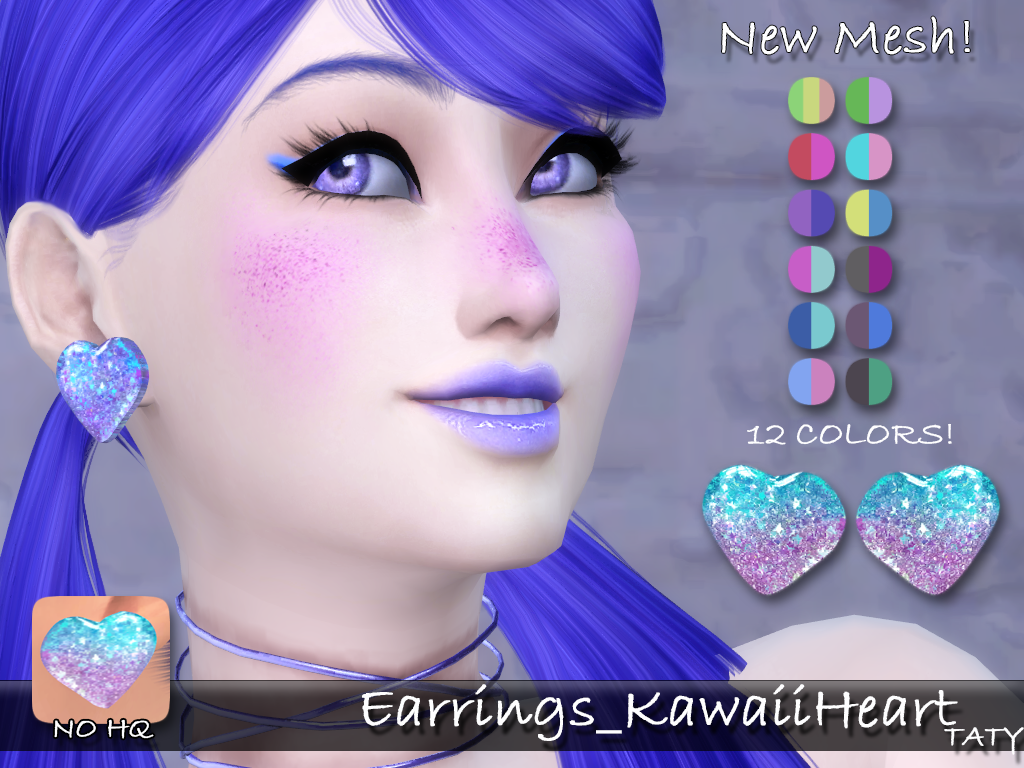 [Ts4]Taty_Earrings_KawaiiHeart.png